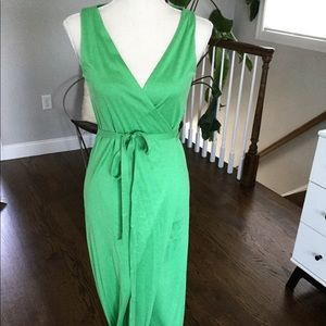 DVF green size 2 dress long